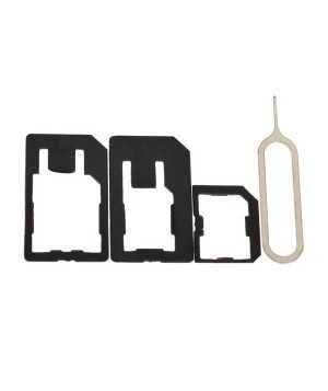 Micro+Standard+Nano Sim Card Adapters+Eject Pin Key For Smartphone