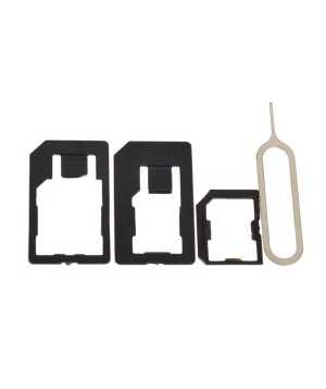Micro+Standard+Nano Sim Card Adapters+Eject Pin Key For Smartphone