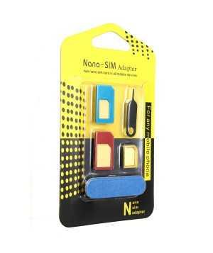 Universal Nano Sim Card To Micro Sim Card To Standard Sim Card Adapter Converter
