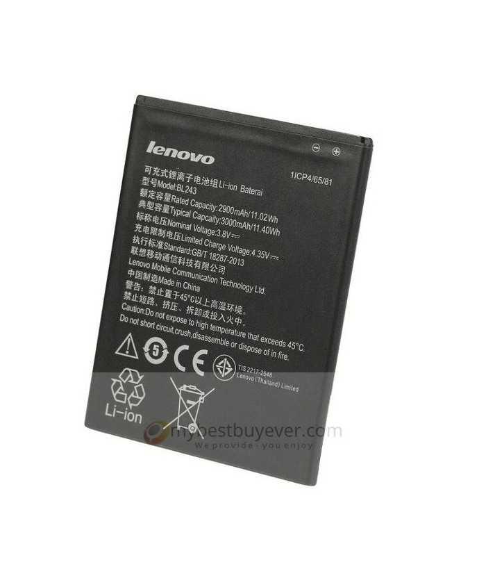 Original 3000mah BL243 Battery For Lenovo k3 note and Lenovo S8 A7600