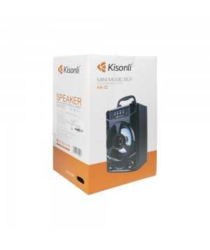 Φορητό Ηχείο Kislonli KK-02, Bluetooth, USB, SD, FM, Μαυρο